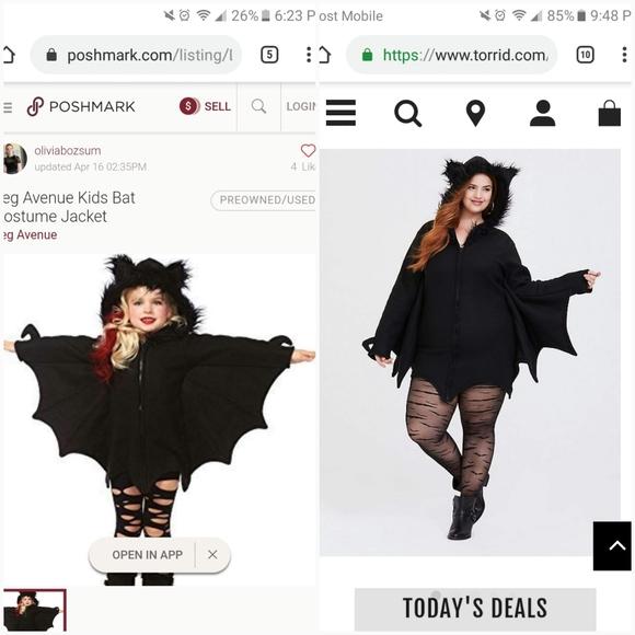 Mommy and me Leg Avenue bat costumes